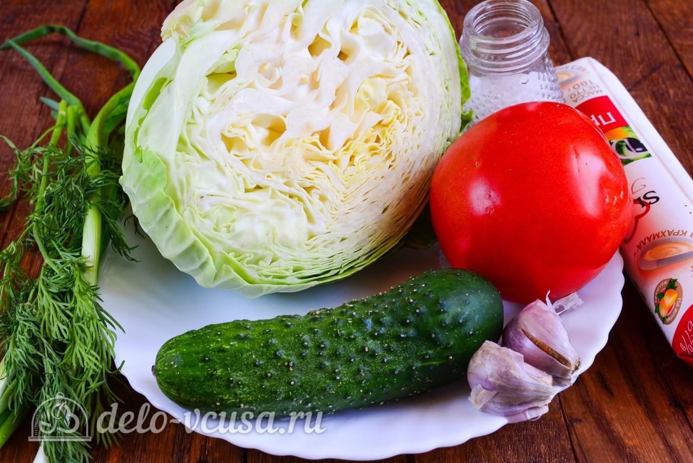 Как сделать салат огурцы и капуста к
