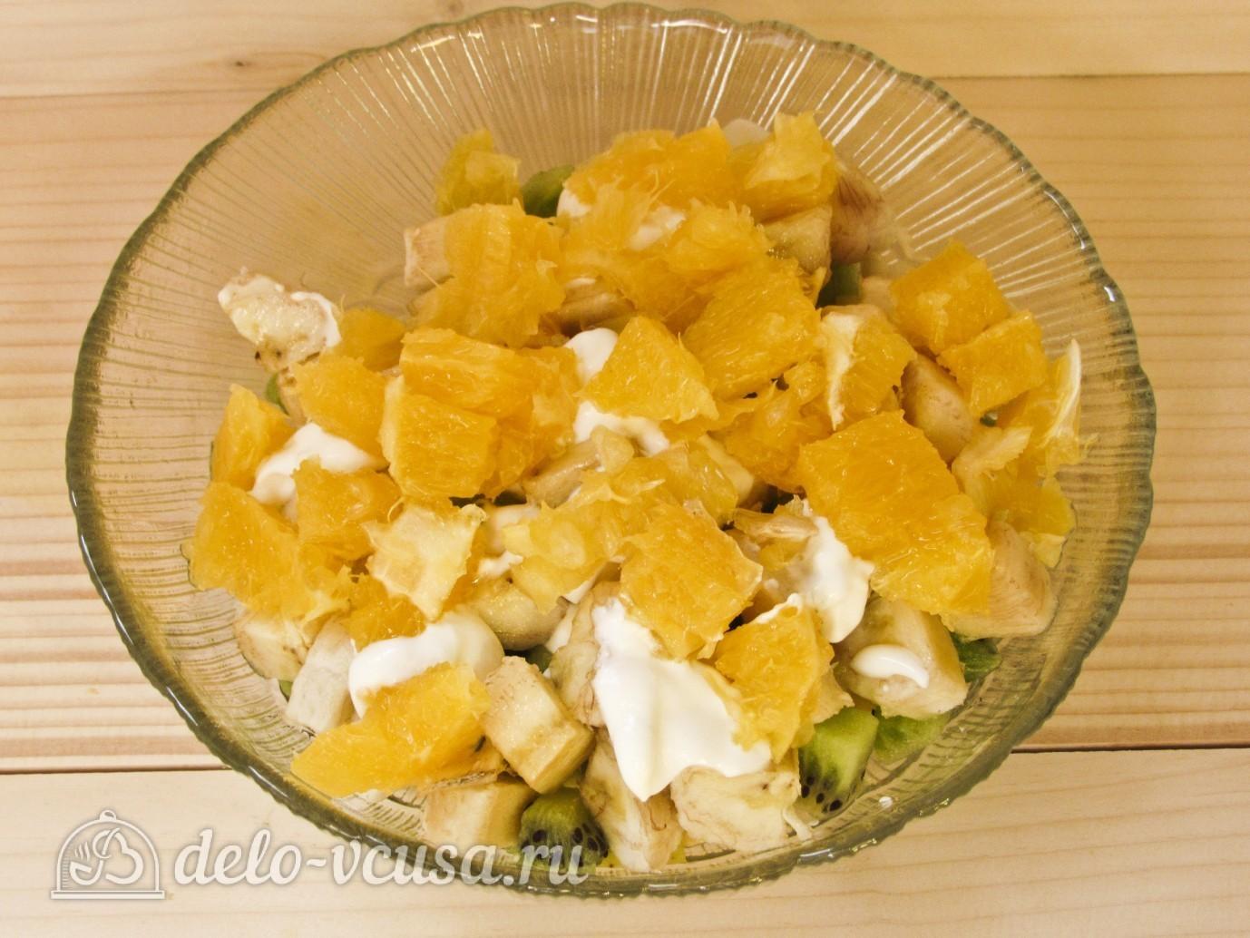Салат фруктовый с бананом рецепт с