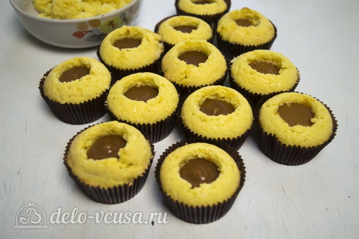 Кексы с джемом внутри рецепт пошагово
