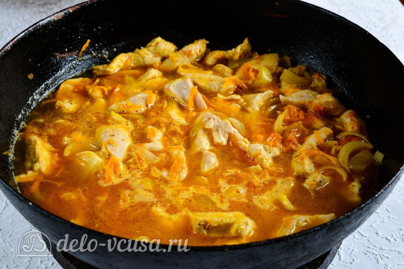 Потушить курицу в сметане в кастрюле рецепт
