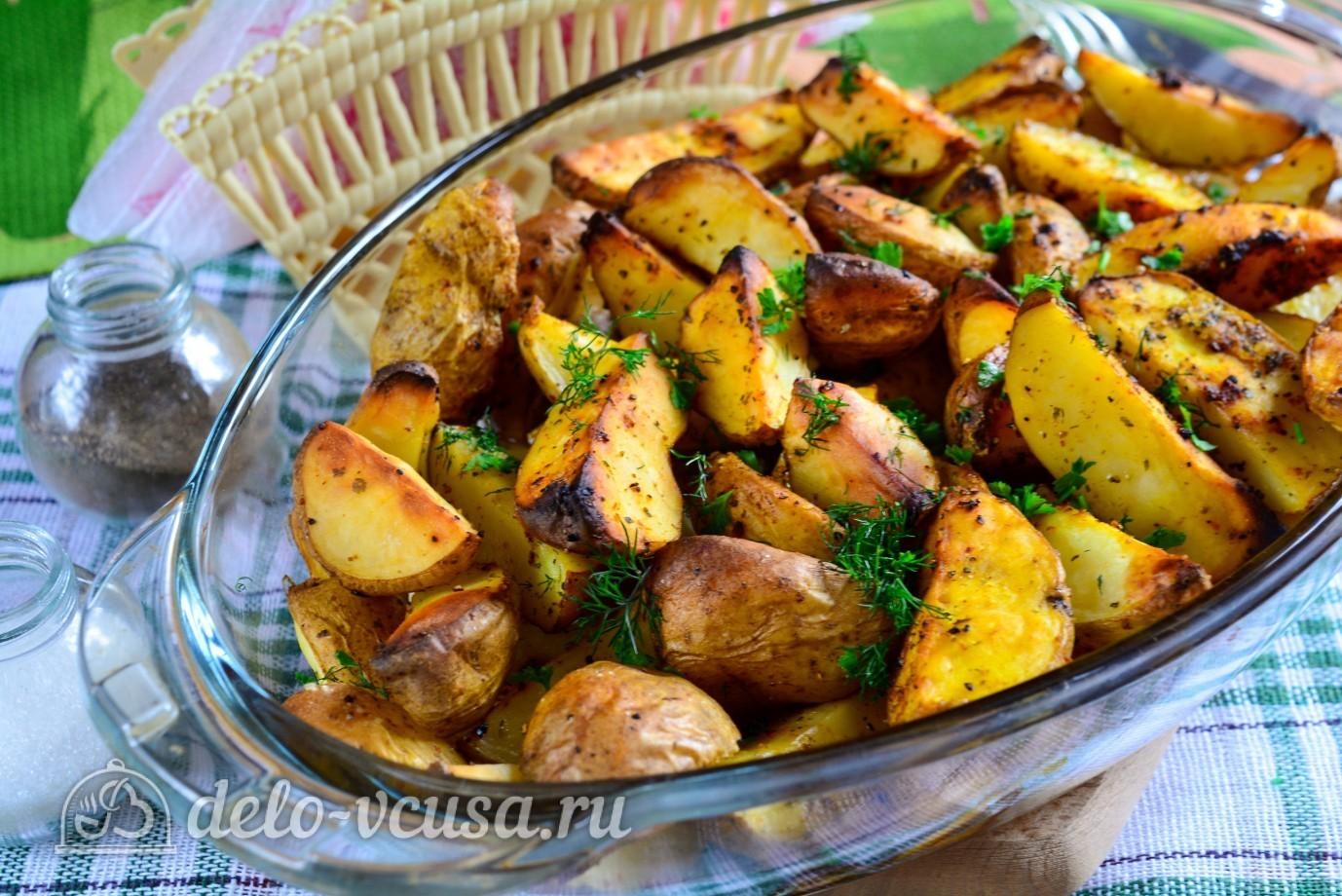 Запеченные картофель в духовке рецепт пошагово