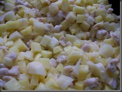 Жареная картошка с куриным филе: фото к шагу 10.