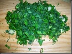 Тушеная рыба под соусом: Зелень для соуса