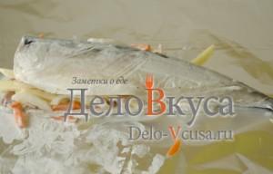 Скумбрия в фольге в духовке: Нафаршировать рыбу