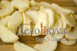 Яблочный пирог. Пирог с яблоками и творогом: фото к шагу 7