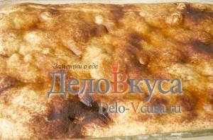 Яблочный пирог. Пирог с яблоками и творогом: фото к шагу 17