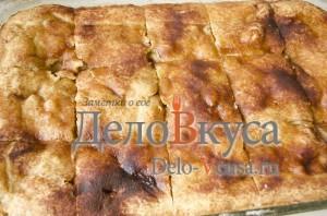 Яблочный пирог. Пирог с яблоками и творогом: фото к шагу 18
