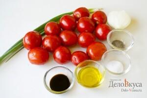 Салат из помидор с бальзамическим уксусом: Ингредиенты