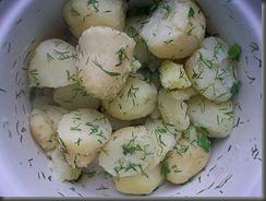 Вареная картошка: Все хорошо перемешать