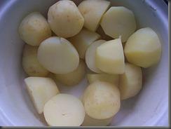 Вареная картошка: Слить воду с картошки