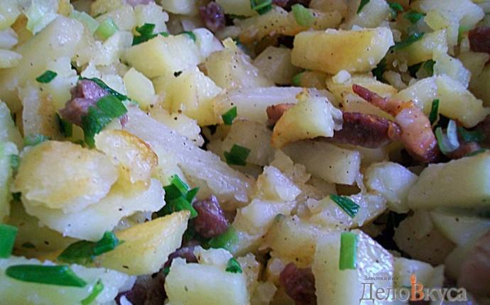 Картошка жаренная с салом