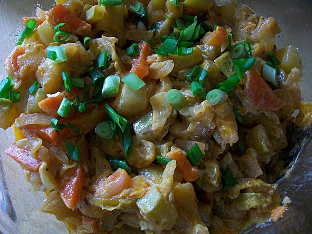 рецепт салата с цветной капустой и кабачками на зиму