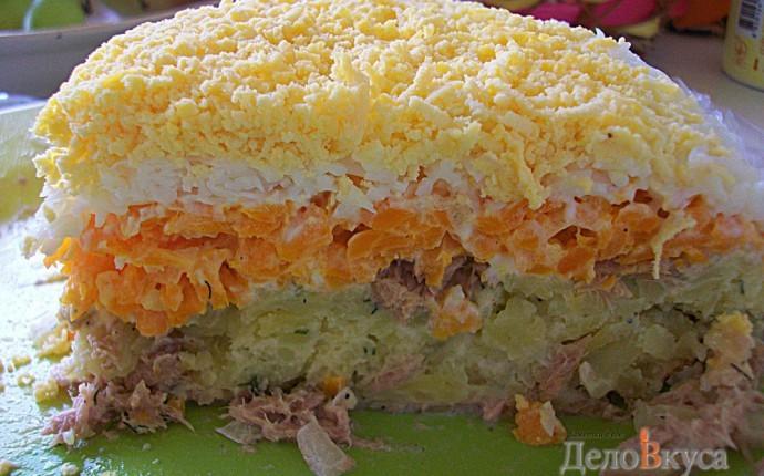 Рецепт как сделать салат мимозу