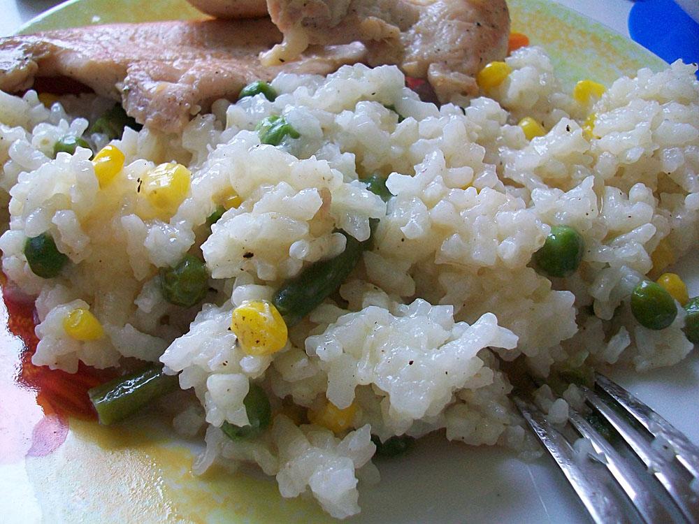 Рис с горошком, кукурузой и стручковой фасолью: фото к шагу 6.