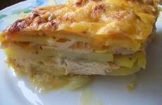 Картофельная запеканка с курицей и сыром
