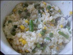 Рис с горошком, кукурузой и стручковой фасолью: фото к шагу 5.