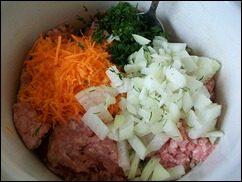 Мясная начинка для голубцов, фаршированного перца или кабачков: фото к шагу 1