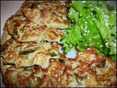 Оладушки с капустой, свининой и зеленью. Оладья с мясом и овощами: фото к шагу 13