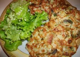 Оладья с мясом и овощами