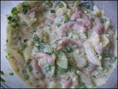 Оладушки с капустой, свининой и зеленью. Оладья с мясом и овощами: фото к шагу 10