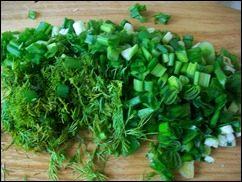 Оладушки с капустой, свининой и зеленью. Оладья с мясом и овощами: фото к шагу 3