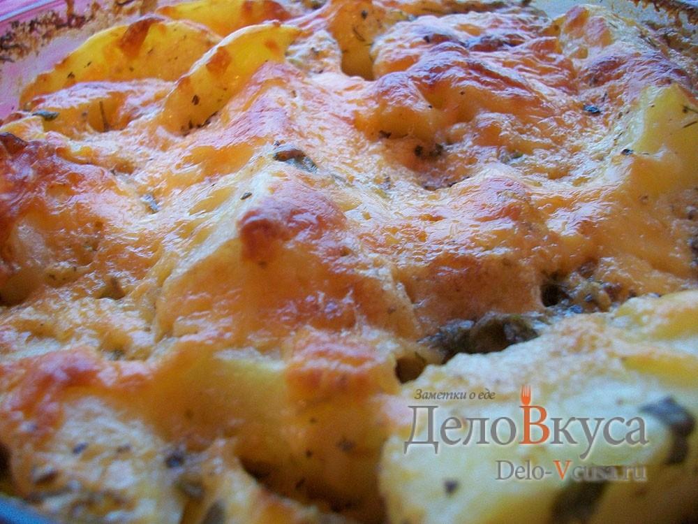 Запечённая картошка со сметаной и сыром