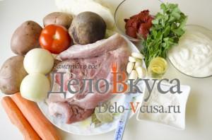 Готовим украинский борщ: Ингредиенты