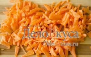 Украинский борщ: Порезать морковку