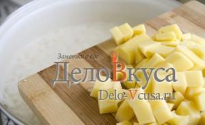 Украинский борщ: Добавить картошку