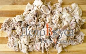 Украинский борщ: Мясо порезать