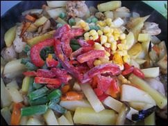 Картошка тушеная с индейкой и овощами: фото к шагу 13.