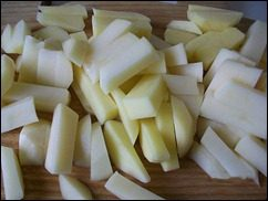 Картошка тушеная с индейкой и овощами: фото к шагу 5.