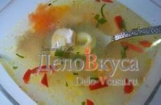 Рисовый супчик с равиоли