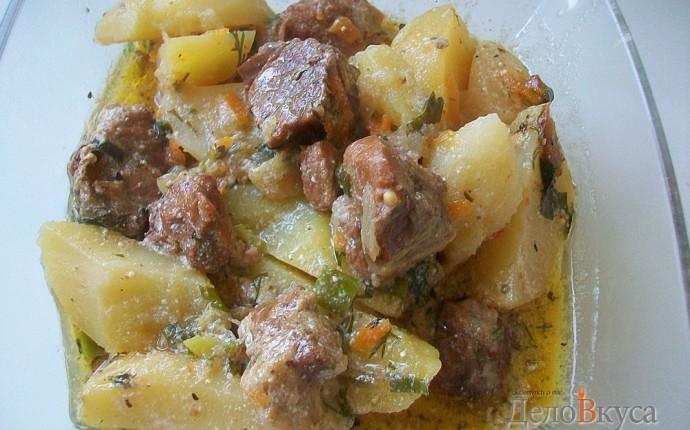 Тушить картошку в сметане