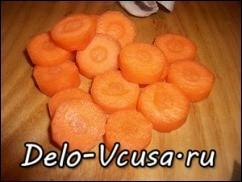 морковку порезать кружочками
