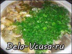Суп с гречкой и грибами: фото к шагу 11.