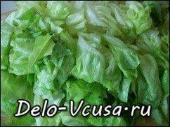 Салат-латук с красным цикорием заправленный бальзамическим уксусом: фото к шагу 3