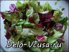 Салат-латук с красным цикорием заправленный бальзамическим уксусом: фото к шагу 7