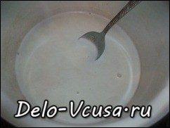 Заварной крем на молоке (основной): фото к шагу 1