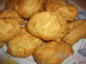 Заварные пирожные с заварным кремом