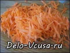 Морковку трем на крупной терке