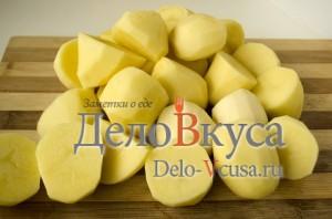 Пюре из картошки со сливками: Картошку очистить и порезать