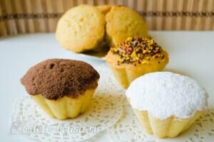 Апельсиновые кексы маффины: фото к шагу 12.