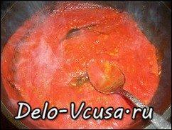 Говядина запеченная в духовке с томатным соусом: фото к шагу 13.