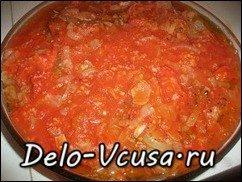 Говядина запеченная в духовке с томатным соусом: фото к шагу 18.