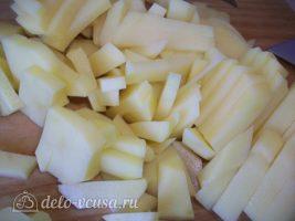Картошка жареная с мясом. Жареный картофель со свиной вырезкой: фото к шагу 3