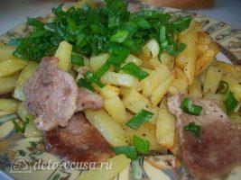 Картошка жареная с мясом. Жареный картофель со свиной вырезкой: фото к шагу 7