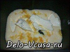 Кекс в хлебопечке: лимонный с цукатами и изюмом: фото к шагу 7
