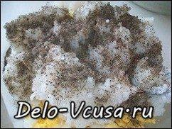 Начинка для пирожков и пирогов из лука, яиц и риса: фото к шагу 4.