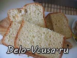 Белый хлеб быстрого приготовления в хлебопечке